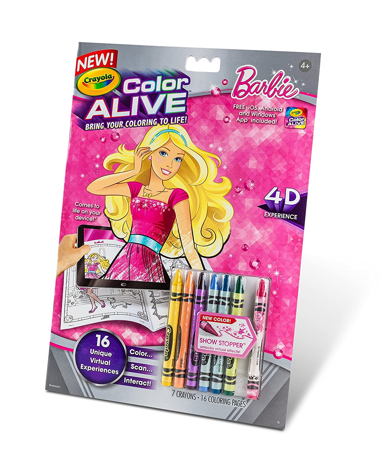 Crayola Color Alive Action Coloring Pages - Barbie