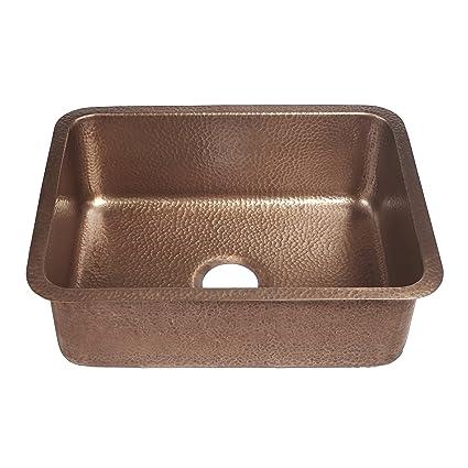 sinkology sk201 23ac classic renoir undermount copper sink 23 in rh amazon com copper undermount kitchen sink
