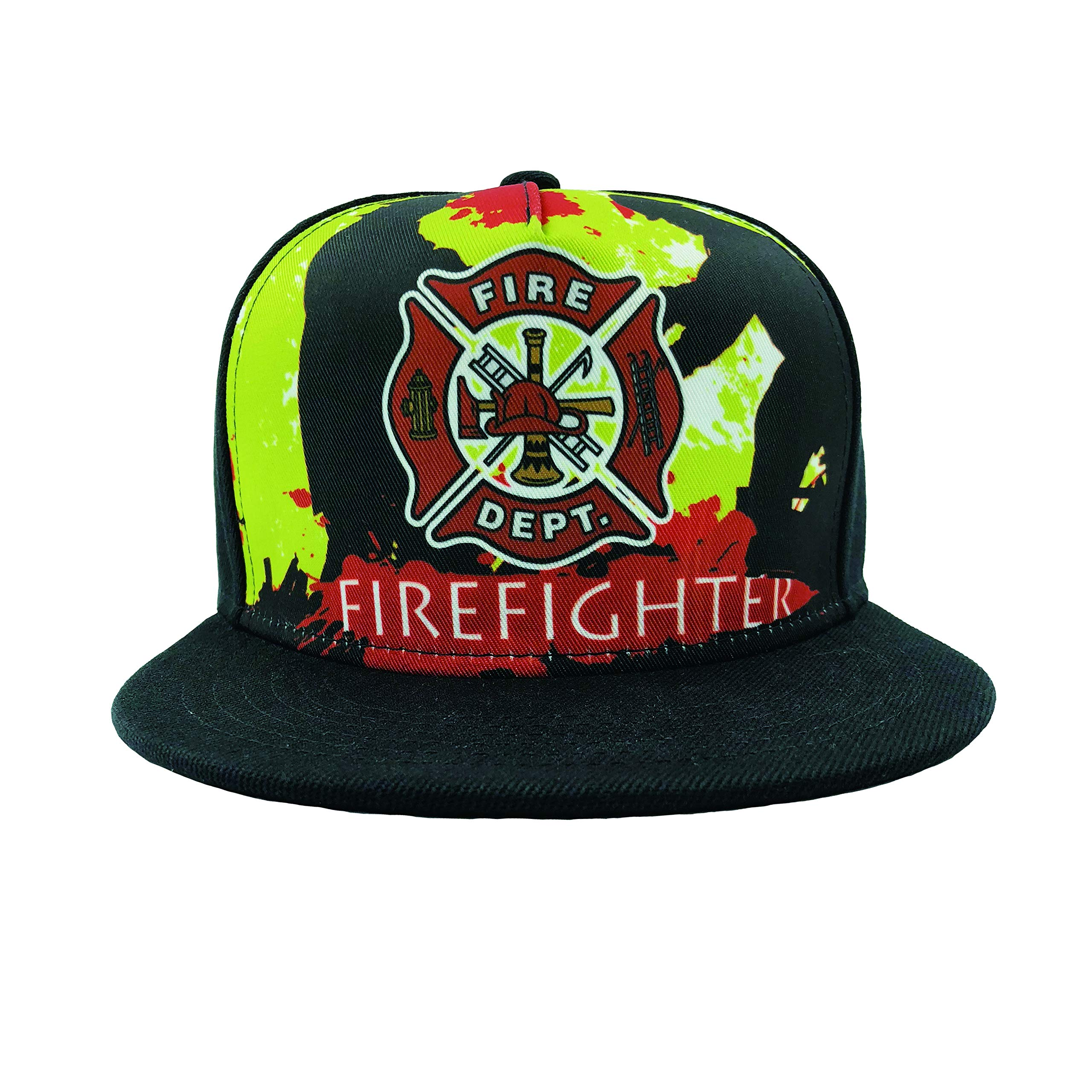 049d81b3230 Channel Five Mens Firefighter Snapback Hats for Men Adjustable Funny Fitted Flat  Bill Hats