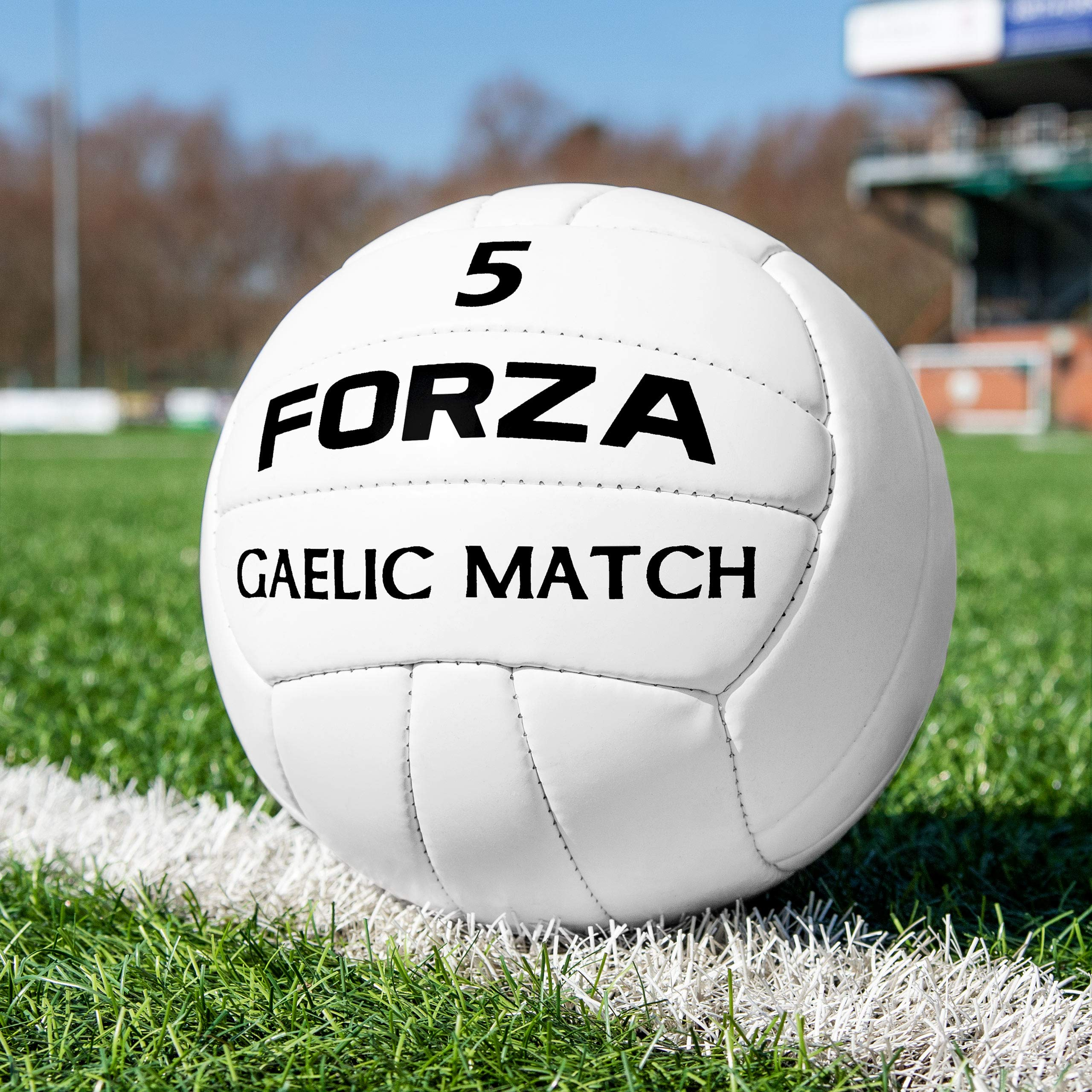 Forza Gaelic Match Football | Official Size | 100% Hand Stitched (Size 4, Pack of 1)