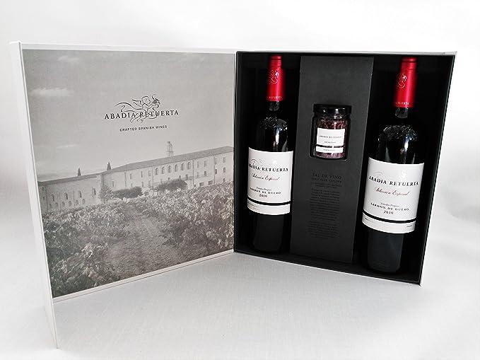 Estuche Premium Vino y Sal- 2 Botellas Abadía Retuerta ...