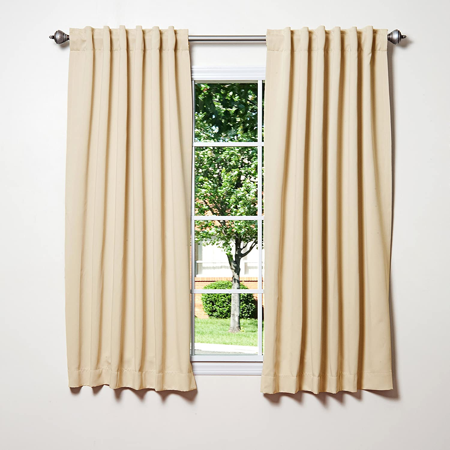 Insulated curtains - Amazon Com Best Home Fashion Thermal Insulated Blackout Curtains Back Tab Rod Pocket Beige 52 W X 63 L Set Of 2 Panels Home Kitchen