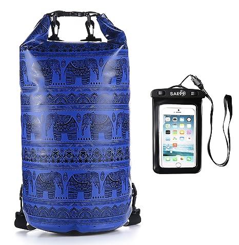 aa937fedab SAE99 Elephant Print Floating Waterproof Dry Bag w Waterproof Phone Case