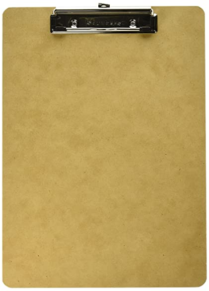 Saunders Recycled Hardboard Clipboard With Low Profile Clip, Letter Size,  8.5 Inch X 12