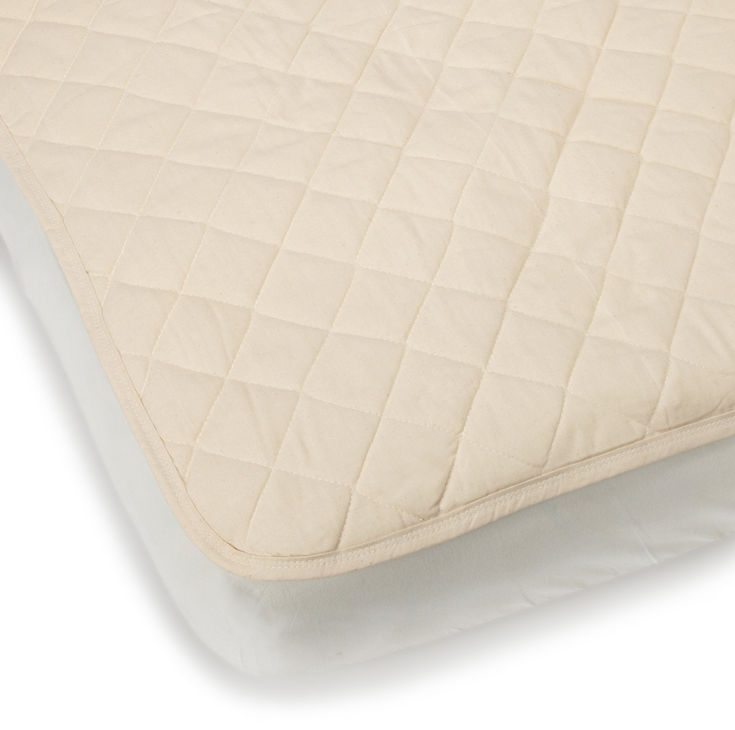 Bargoose Natural Cotton Top Flat Crib Pad by BARGOOSE