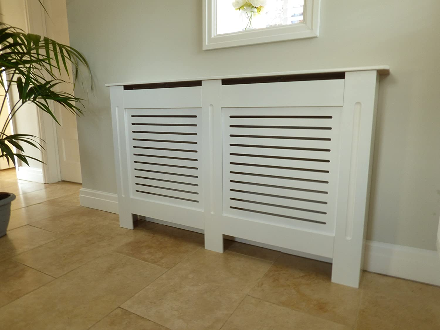 Painted Radiator Cover Radiator Cabinet Modern Style White MDF ...