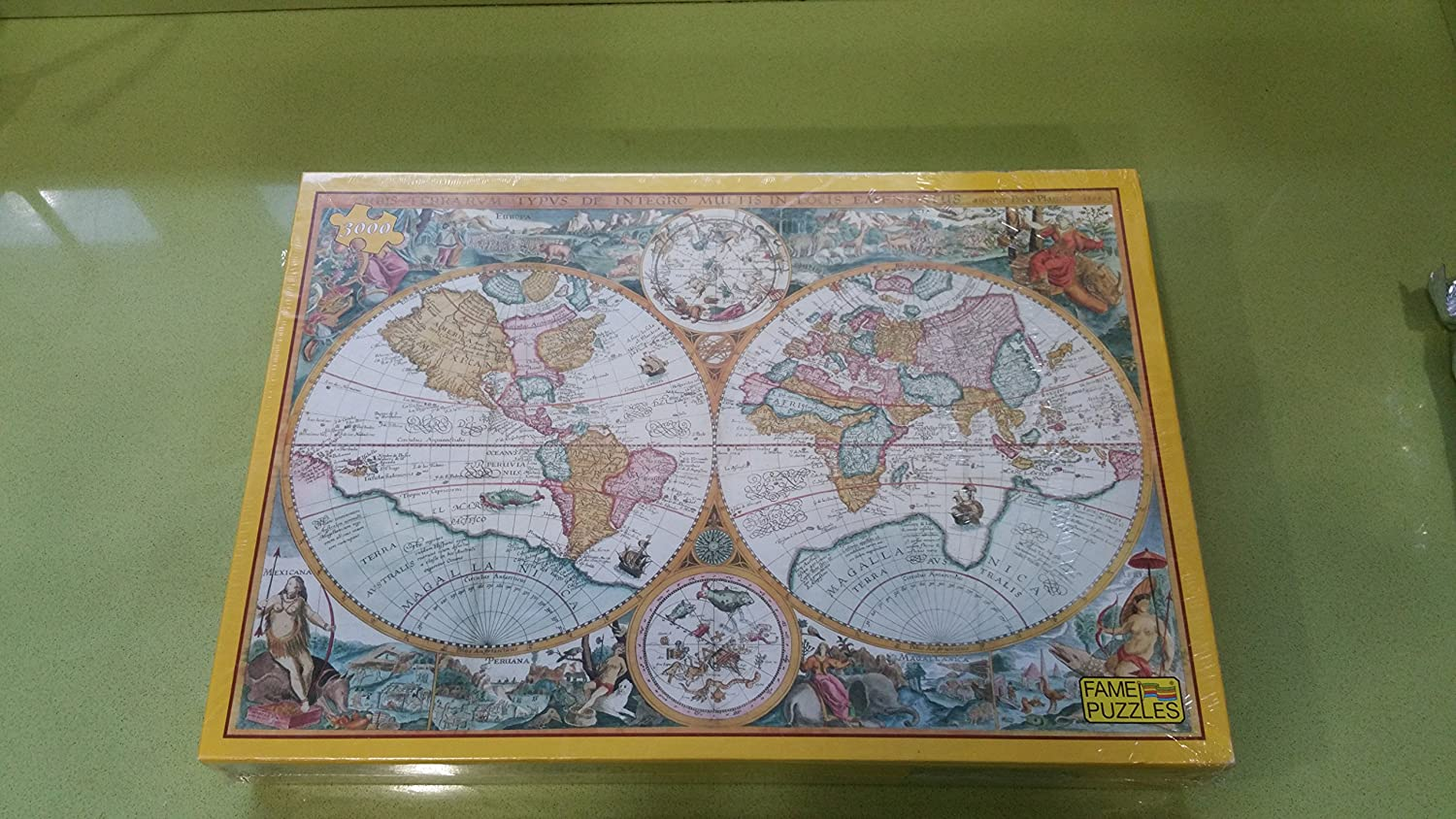 Historic Ancient World Map 1594 3000 Piece Jigsaw Puzzle By Fame Puzzle