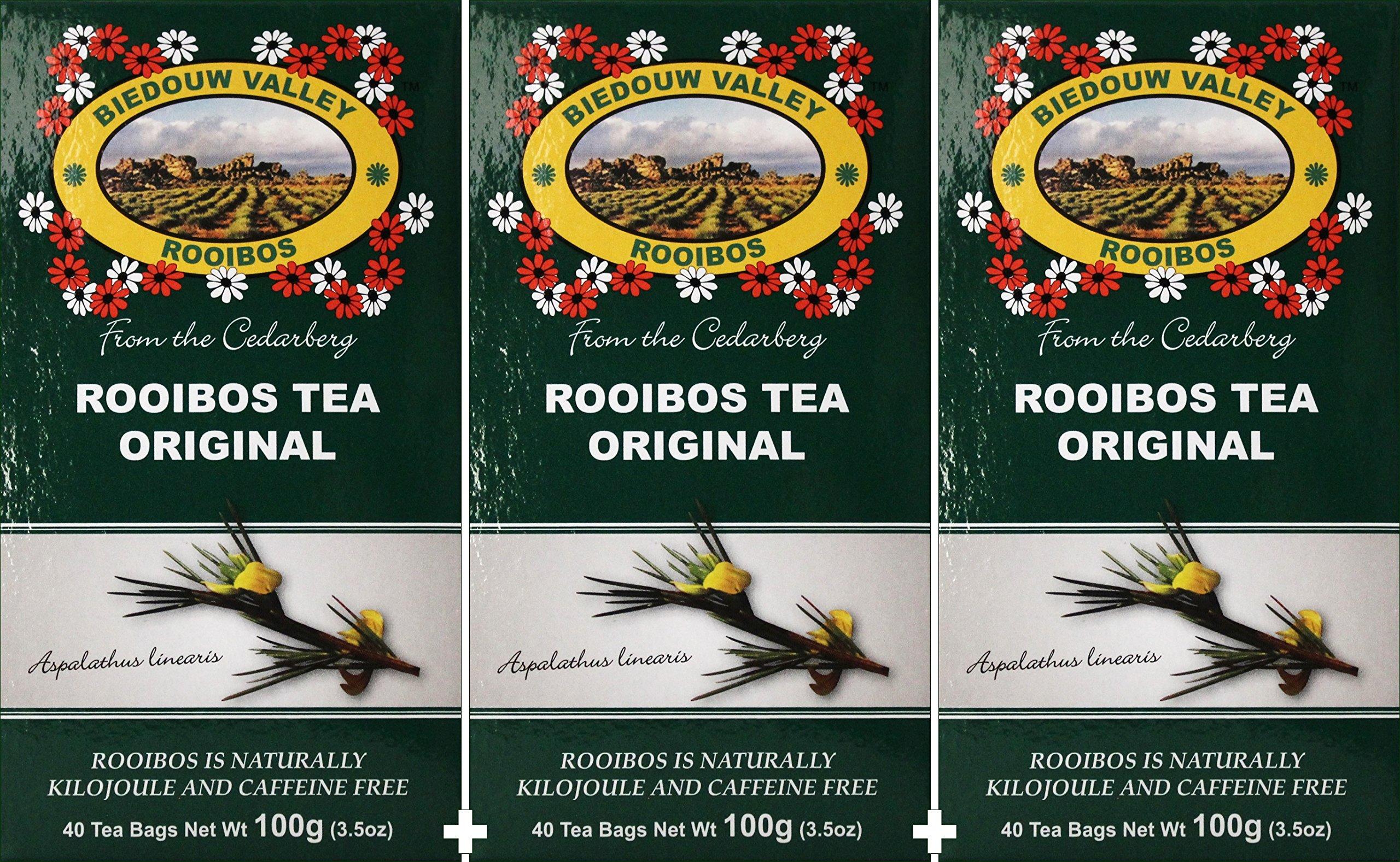 Rooibos Tea: 100% Natural Original South African (120 Bag Count 10.5oz) Red Bush Healthy Herbal Tea - Caffeine Free, Calorie Free, Antioxidant & Mineral Rich. Grown At High Altitude in Natural Habitat