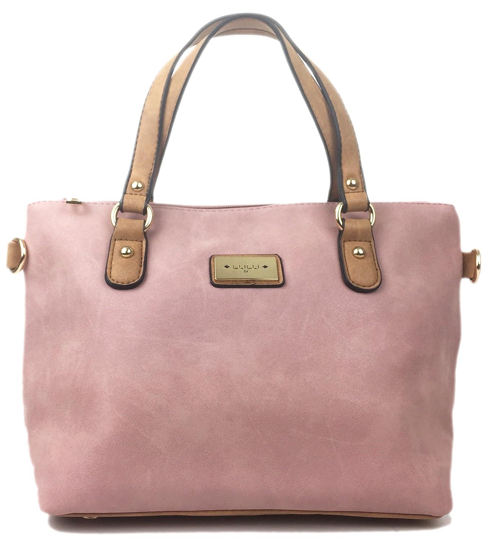 651af4f931b Designer Handbags for Women beautiful faux Nu Buck Leather handbag Italian  styled mini grab bag with detachable adjustable shoulder bag strap.
