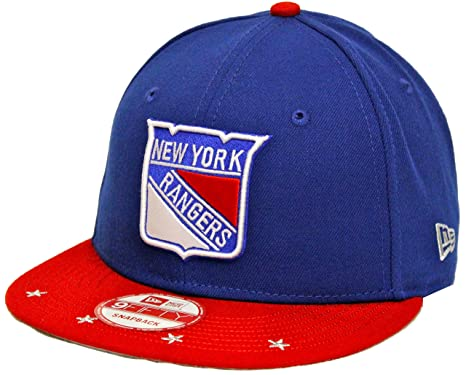 239859b62ab New Era 9Fifty Star Trim New York Rangers Blue Red Snapback at ...