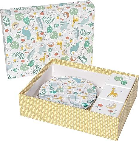 Baby Art Kit de Regalo para Bebe- La Caja de los Recuerdos- Masilla de Recuerdo de Huella Personalizable: Amazon.es: Bebé