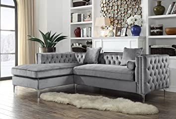 Esofastore Classic Contemporary Sectional Sofa w Storage ...