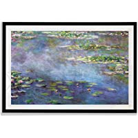 Monet Wall Art Collection Water Lilies, 1906 02 By Claude Monet Fine Giclee PrintsPrints Framed Wall Art Ready to Hang…
