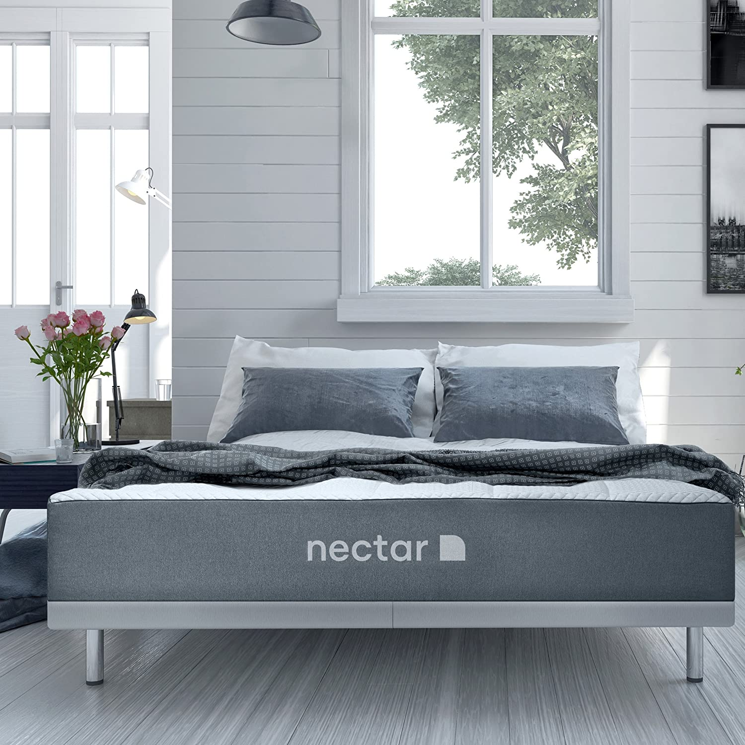 Amazon.com: Nectar Queen Mattress + 2 Free Pillows   Gel Memory Foam    CertiPUR  US Certified   180 Night Home Trial   Forever Warranty: Kitchen U0026  Dining