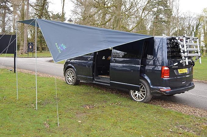 Toldo de Wild Earth para furgoneta, caravana o autocaravana, 240 cm x 300 cm, color gris oscuro