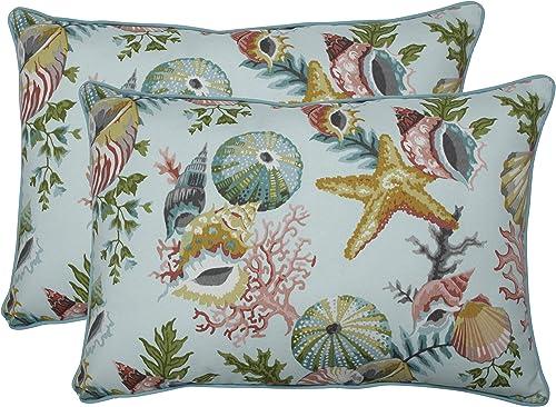 Pillow Perfect Outdoor/Indoor Grantoli Seamist Oversized Lumbar Pillow
