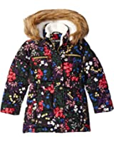 Steve Madden (Little Girls'/Toddler Girls'/Big Girls') Bubble Jacket with Faux Fur Trimmed Hood