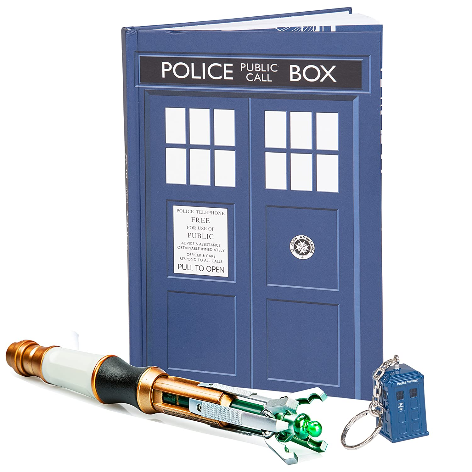 Doctor Who Gift Set - Sonic Screwdriver, TARDIS Key Chain and Journal