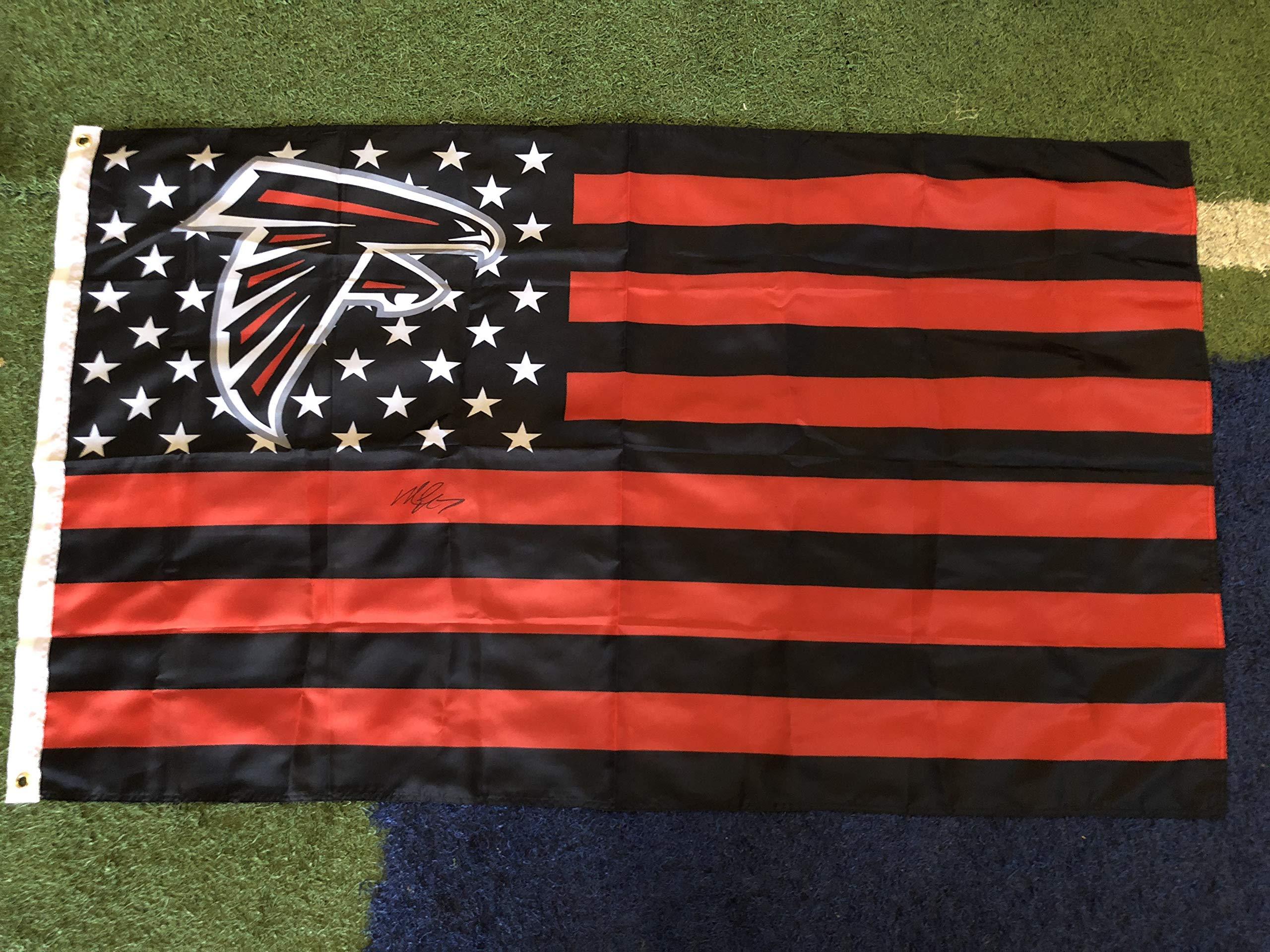Michael Vick Autographed Signed 3ftx5ft Atlanta Falcons Flag (The Cowboy House COA)