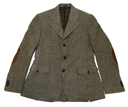 b343a14c0508 Ralph Lauren Polo RRL Harris Tweed Wool Blazer Sport Coat Italy Olive Brown  40