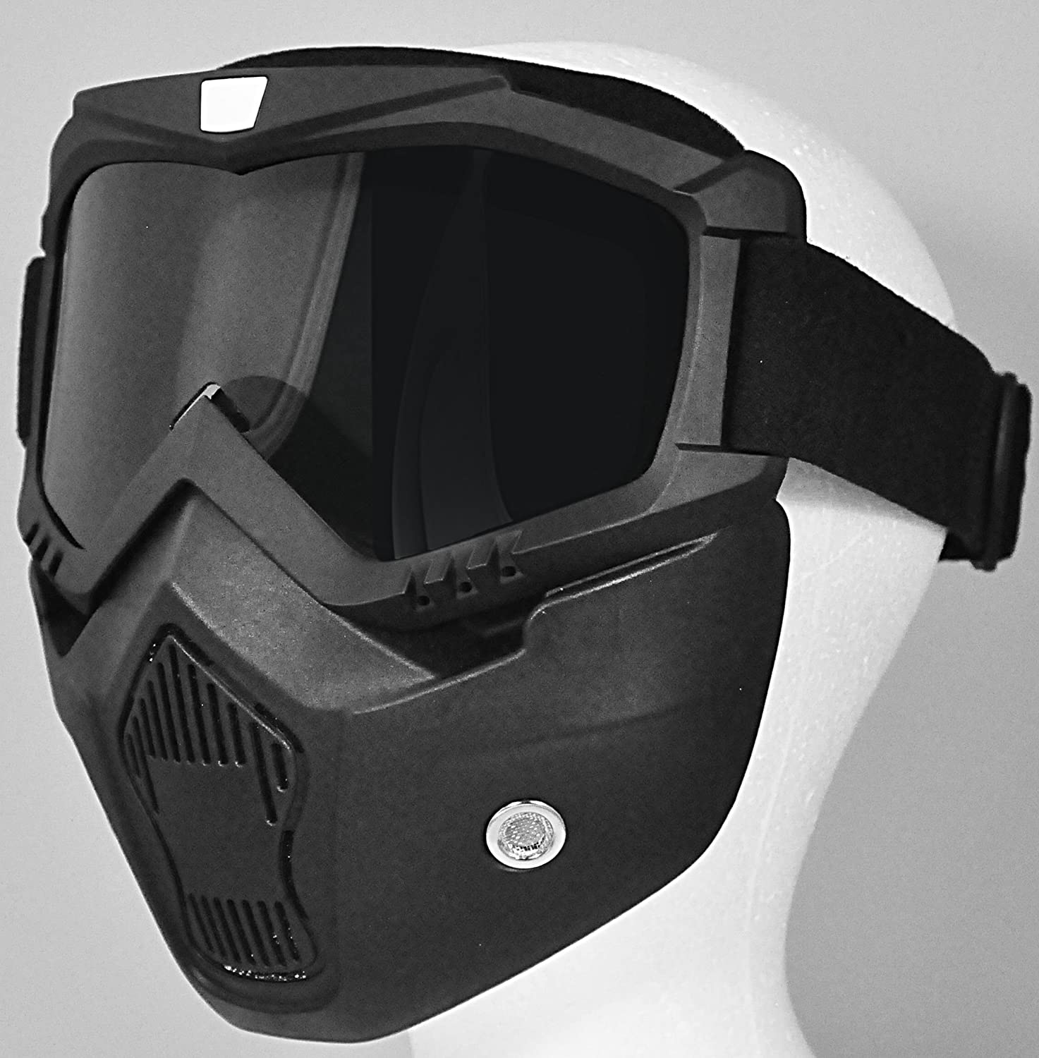 Black One Size T50 MASK TORC Unisex-Adult Goggle Mask for All Open Half Face Helmets