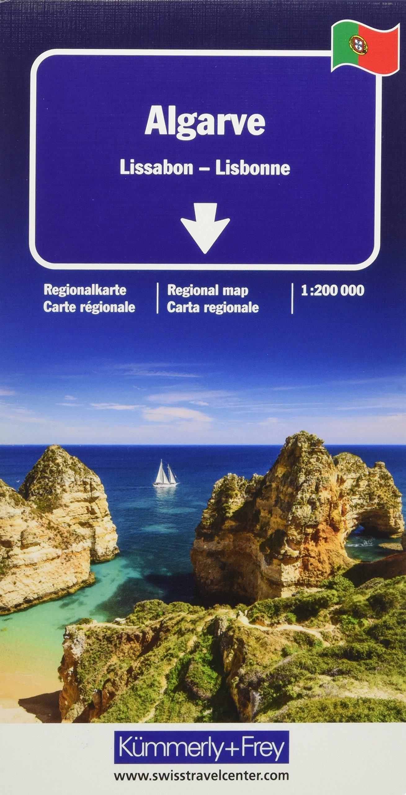 Algarve, Lisbonne : 1/200 000 (Anglais) Carte – Carte pliée, 26 juillet 2018 Kümmerly + Frey Kummerly & Frey 325901490X Karten / Stadtpläne / Europa