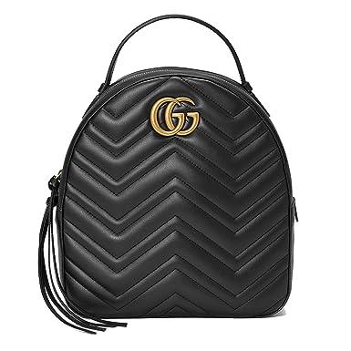 Gucci Femme 476671DTDHD1000 Noir Cuir Sac À Dos  Amazon.fr ... 596a1437cfb
