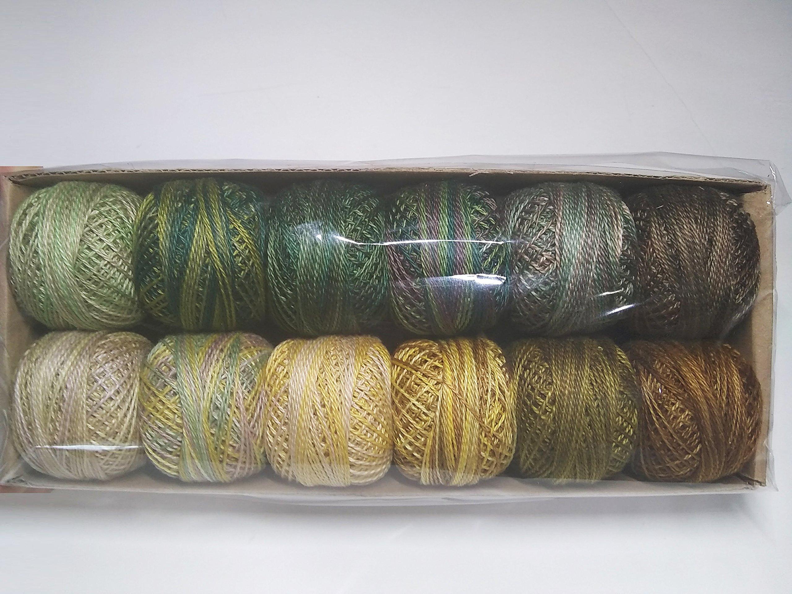 Valdani Perle Cotton Size 8 Embroidery Thread - ''Delicious Pistachios'' Sampler Set ... by Valdani