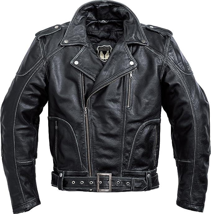 Spirit Motors Motorradjacke Mit Protektoren Motorrad Jacke Antik Lederjacke 2 0 Schwarz 3xl Herren Chopper Cruiser Sommer Bekleidung