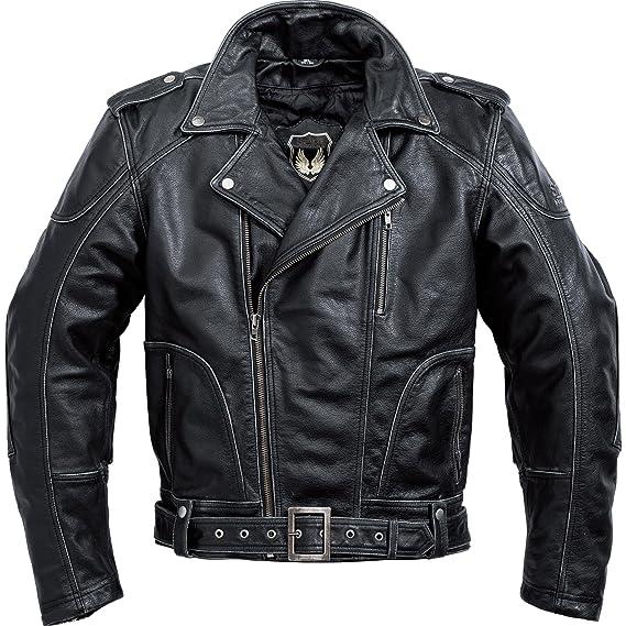 SPIRIT MOTORS POLO Antik Lederjacke, Motorradjacke schwarz
