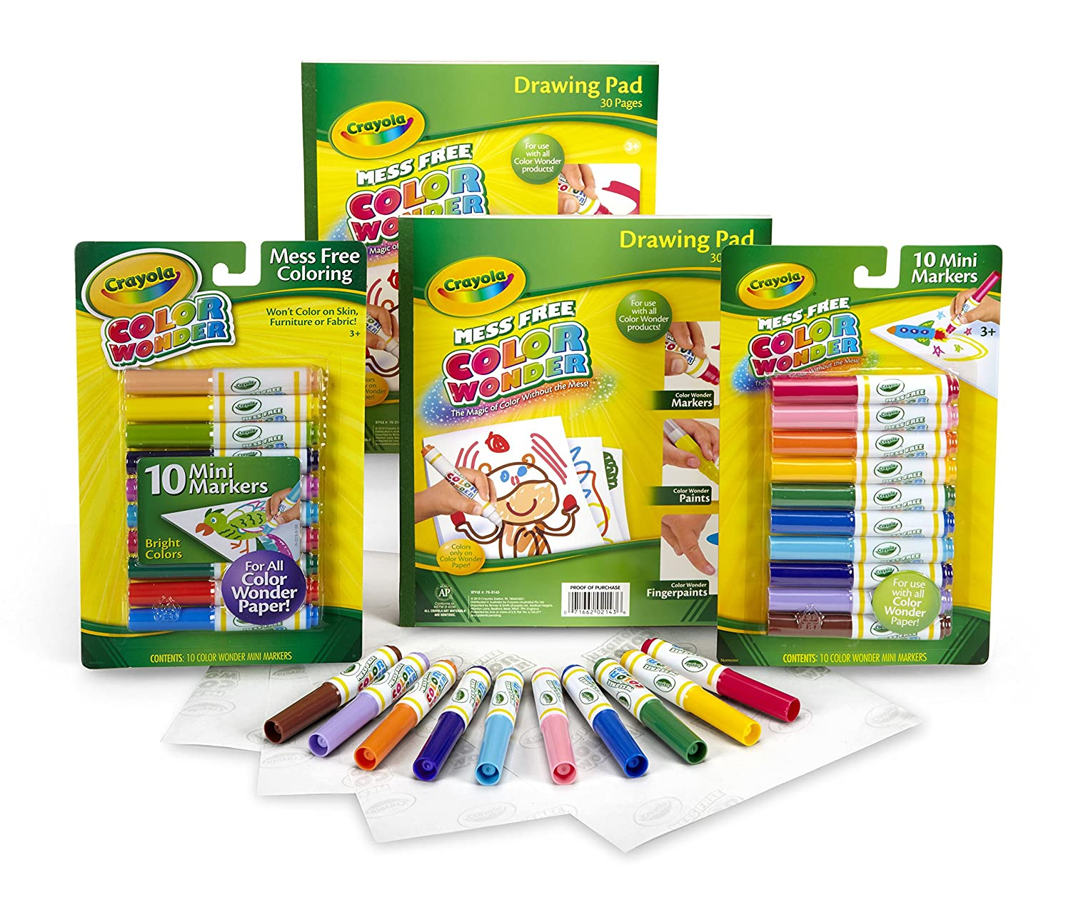 Amazon.com: Crayola Color Wonder Mess Free Coloring, No Mess Markers ...