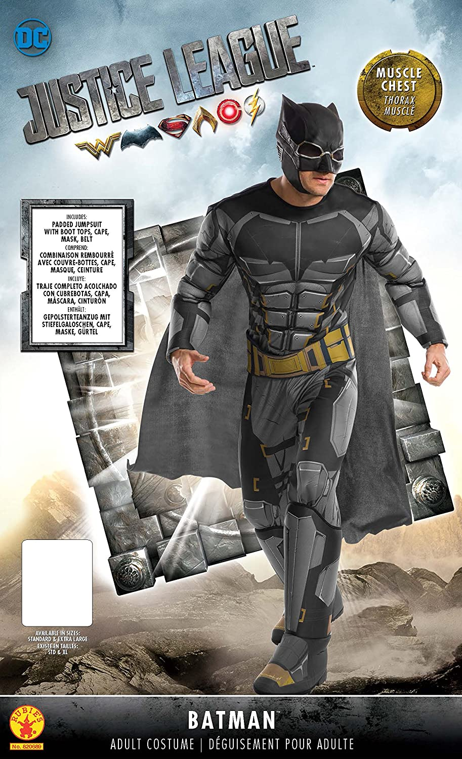 Rubies Justice League Adult Deluxe Tactical Batman Costume