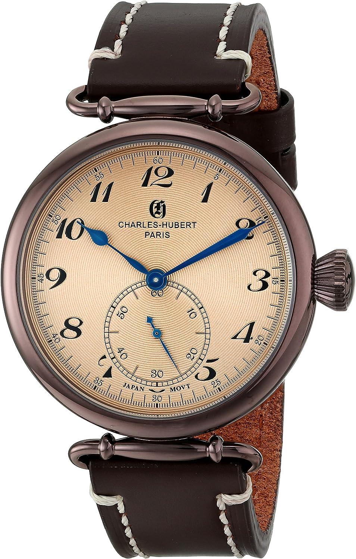 Charles-Hubert, Paris Men s 3957-N Premium Collection Analog Display Japanese Quartz Brown Watch