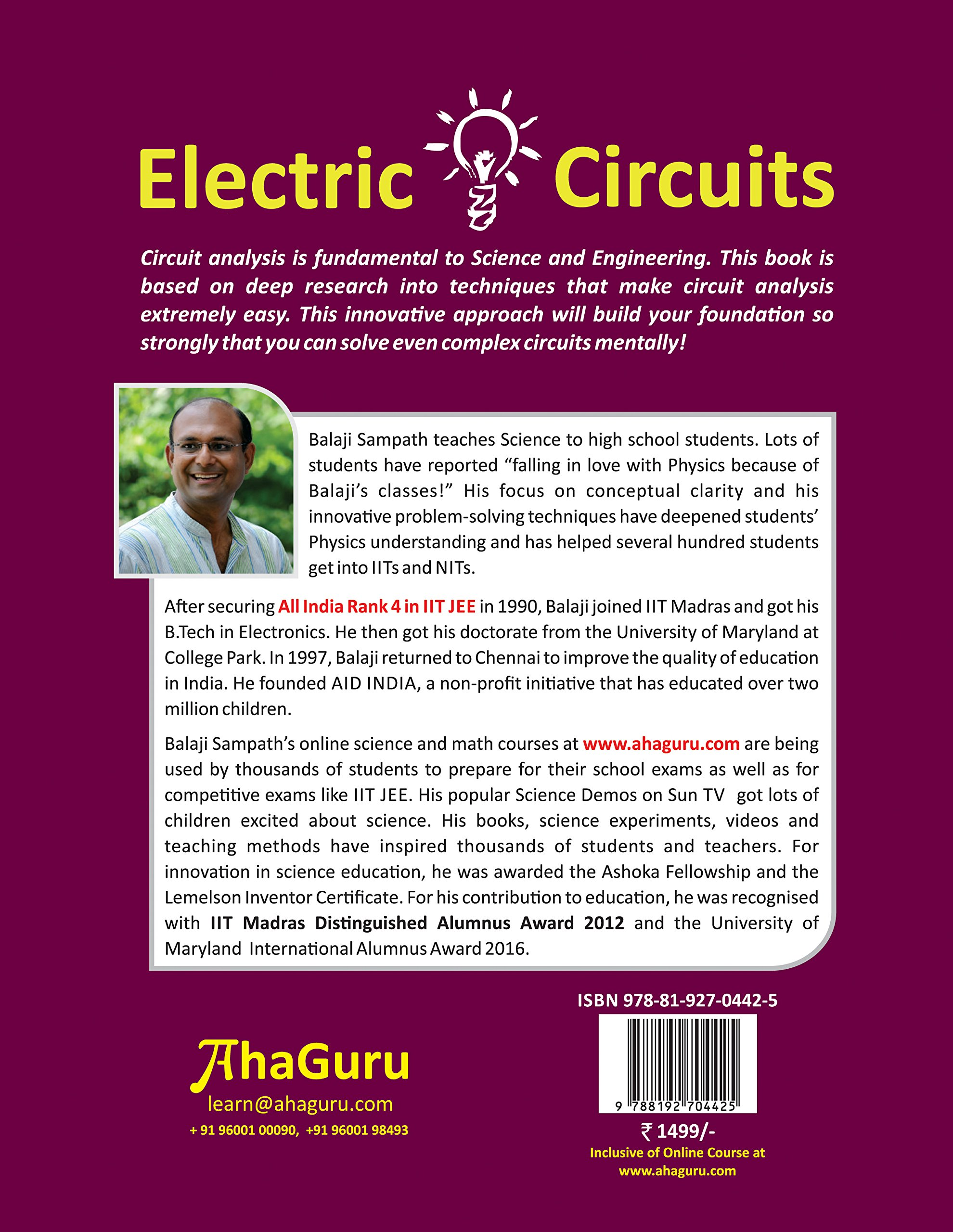 Buy THE AHA GUIDE TO Electric Circuits for CBSE + IIT JEE + NEET ...