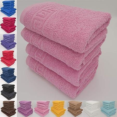 Juego de toallas de baño, 100% algodón natural, hilado en anillos, 500 g/m², absorbentes,