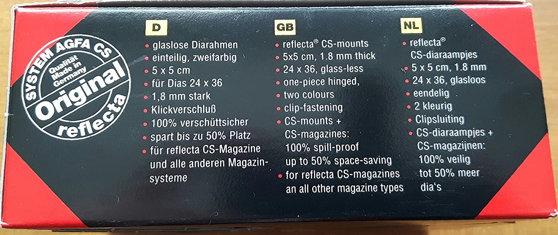 Reflecta CS Slide mounts - Accesorio para proyector (Negro, 50 x ...