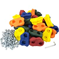 "Squirrel Products 20 Large Kids Rock Climbing Holds - with Mounting Hardware for up to 1"" Installation"
