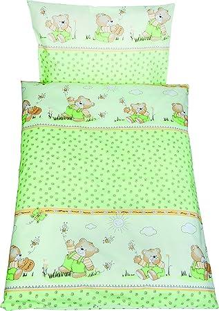 Fillikid Bettwäsche Grün Bär Amazonde Baby