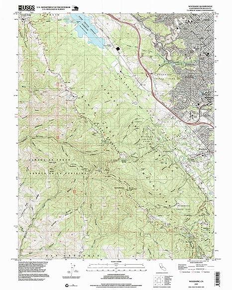Amazon Com Yellowmaps Woodside Ca Topo Map 1 24000 Scale 7 5 X