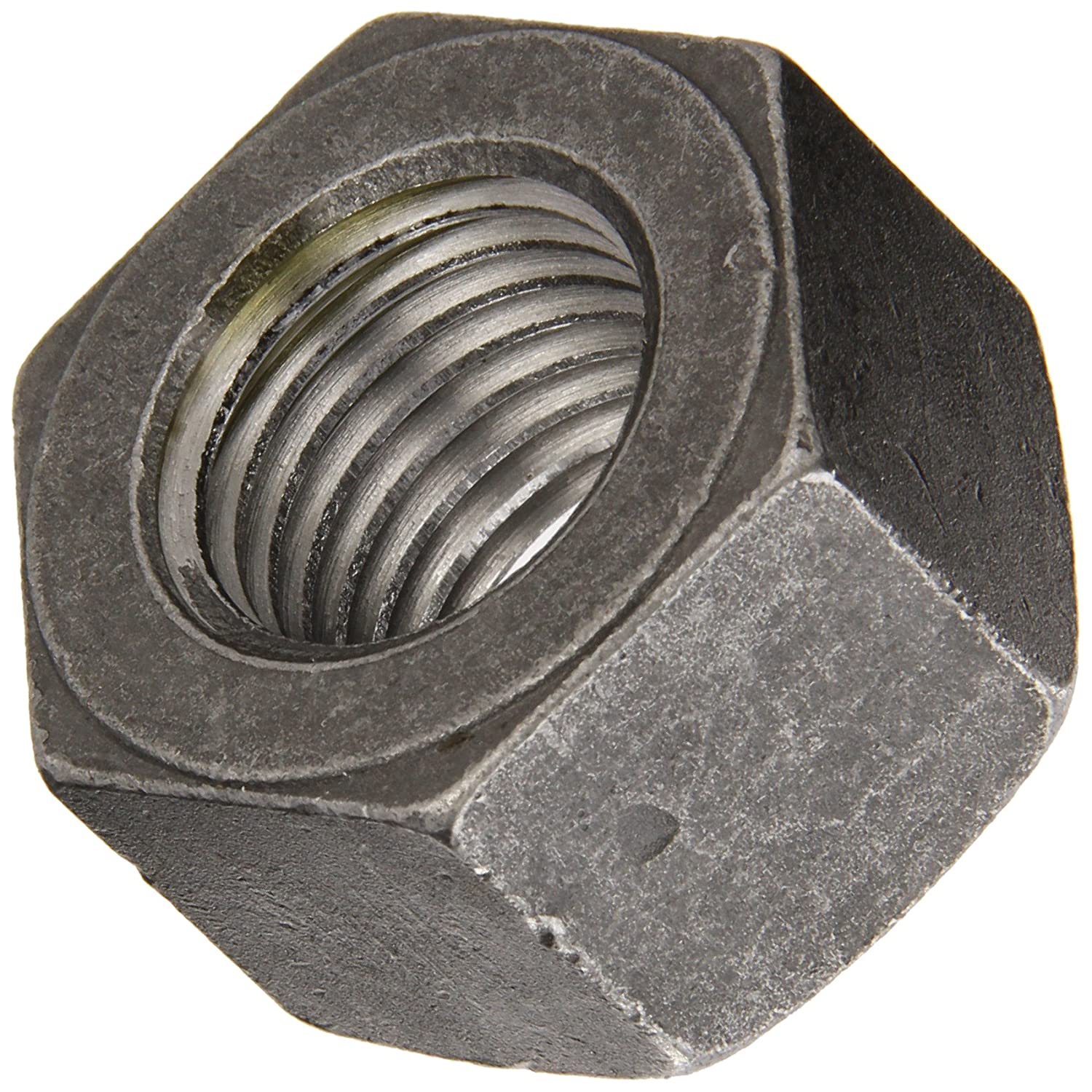 Steel Heavy Hex Nut ASME B18.2.2 and ASTM A325 Pack of 10 1-8 Thread Size 1-5//8 Width Across Flats Grade C Plain Finish 63//64 Thick
