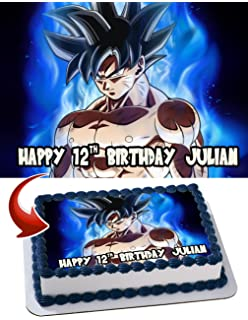 Amazoncom CAKEUSA DRAGON BALL Z Birthday Cake Topper Edible Image