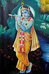 Exotic India Shri Krishna - Flauta para Jugar, Multicolor