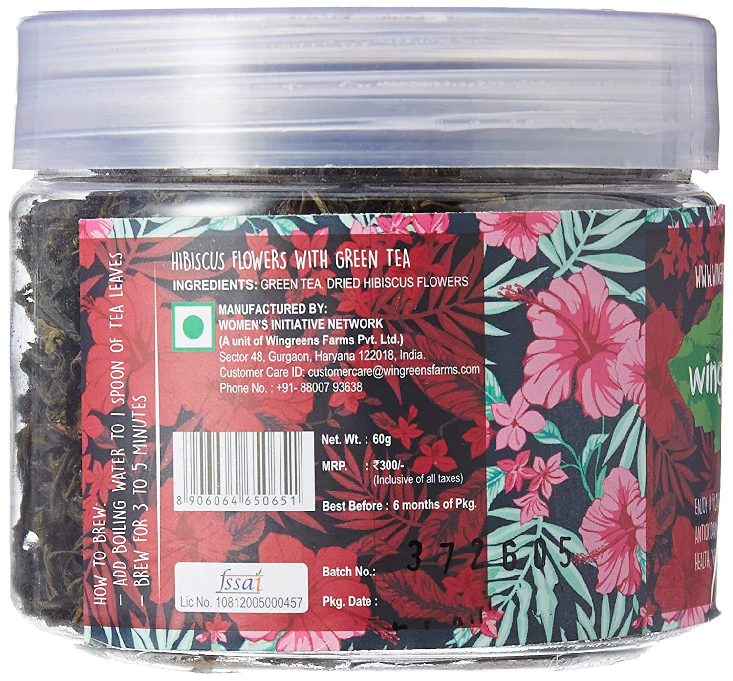 Wingreens Farms Hibiscus Flowers With Green Tea 60g Amazon