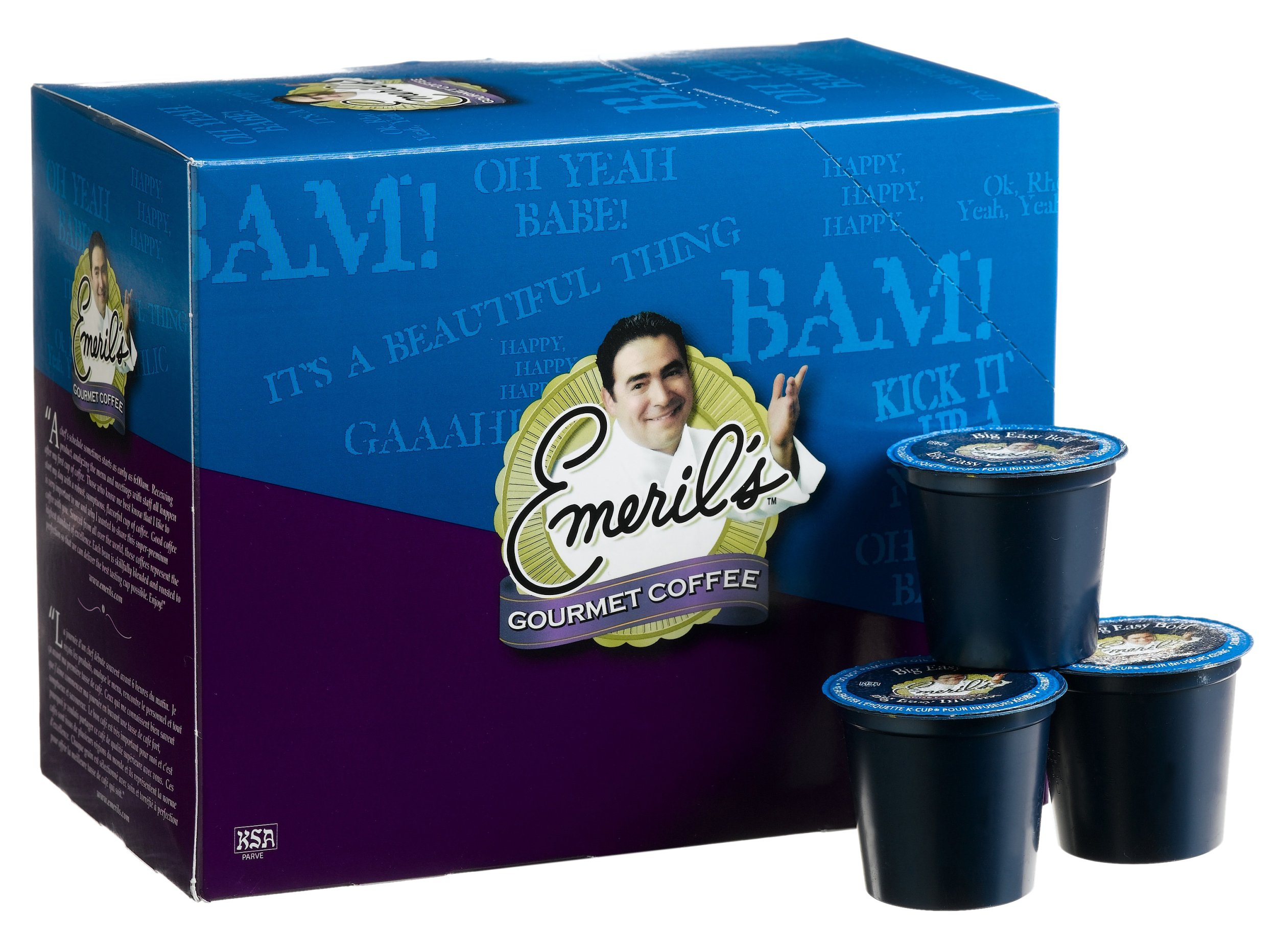 Emeril's Big Easy Bold Coffee, 24-Count K-Cups for Keurig Brewers, 9.90 oz, (Pack of 2)
