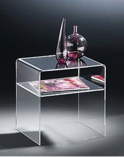 Homcom 3er Set Beistelltisch Acryltisch Couchtisch Wohnzimmertisch