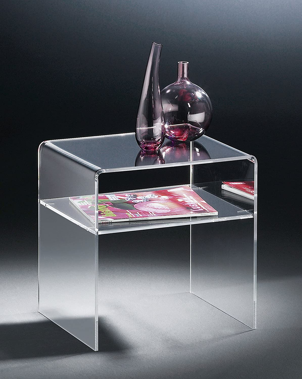 HOWE-Deko Hochwertiger Acryl-Glas Acryl-Glas Acryl-Glas Beistelltisch Endtisch, klar, 40 x 33 cm, H 35 cm, Acryl-Glas-Stärke 6 mm 26c614
