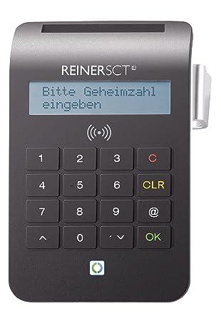 Reiner SCT cyberJack RFID Komfort Lector de Tarjeta Inteligente Negro USB 2.0 - Lector de Tarjetas de Memoria (Negro, 1,5 m, USB 2.0, TUV, BSI, 80 x ...