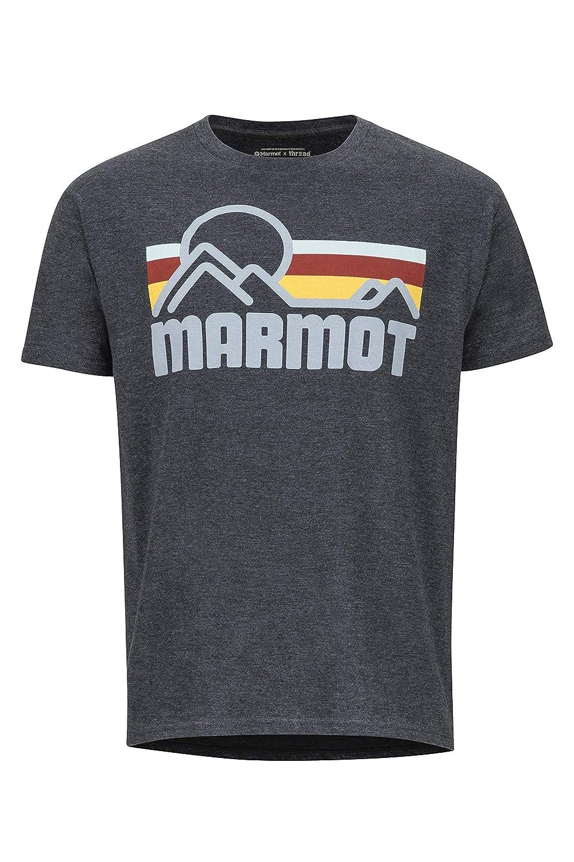 Id/éal pour Les Sports S/èche Rapidement Respirant Homme Gym T-Shirt dext/érieur Marmot Coastal Tee SS Haut /à Manches Courtes