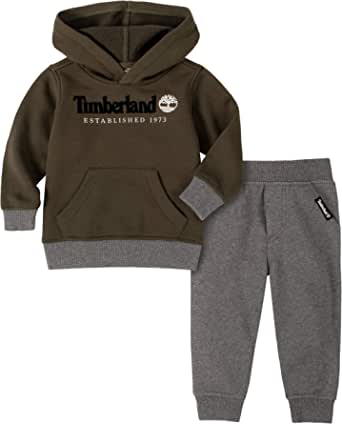 Timberland Boys' 2 Pieces Hooded Pullover Pants Set