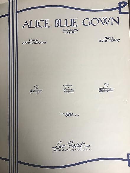 Amazon.com : Sheet Music Alice Blue Gown Joseph McCarthy Harry ...